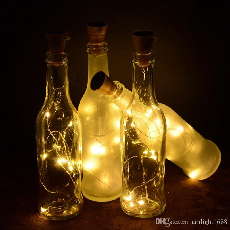 Umlight1688 8/10 LED Solar Silver Wire String Light with Bottle Stopper for Bar Glass Craft Bottle Fairy Valentines Wedding Decoration Lamp