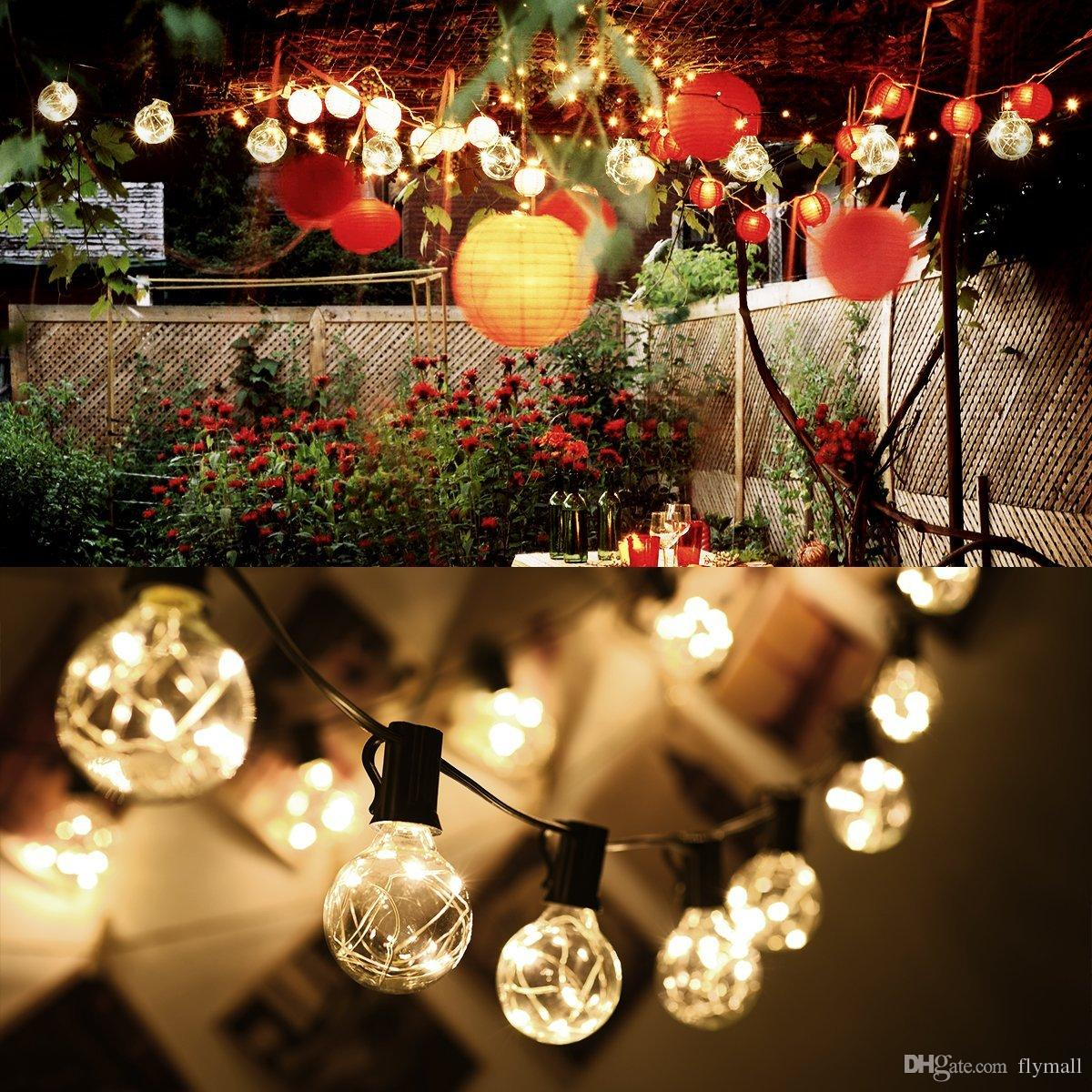 G40 Christmas Lights Globe String Light 25LED Bulb Outdoor Decorative Copper Wire String Lights for Garden, Patios, Home Decor, Wedding