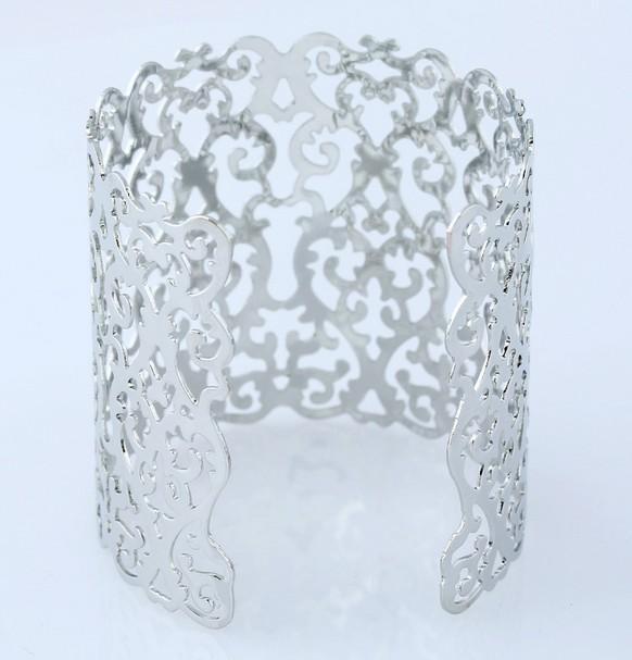 Fashion Womens Jewelry Bangle Open Gold /Silver Tone Geometrical Pattern Cuff Bracelets Bangle For Womens Gifts Jewelry