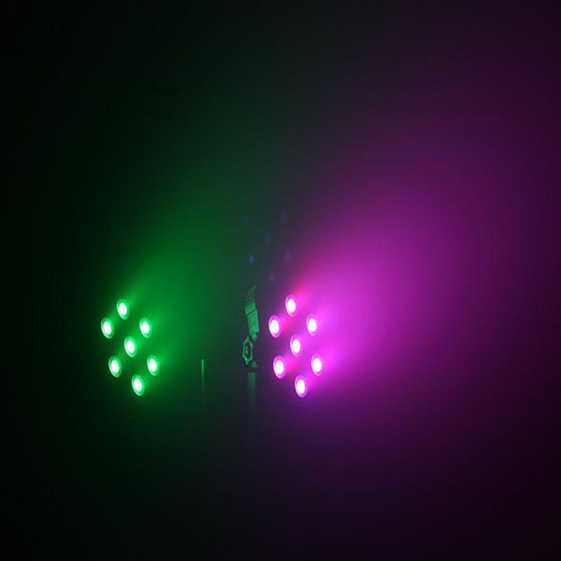 Fast Shipping DJ Stage Lightings Disco DJ party KTV LED Light Wash RGB Uplighting LED Flat Par 7x9W RGB Lighting , Stage Lighting