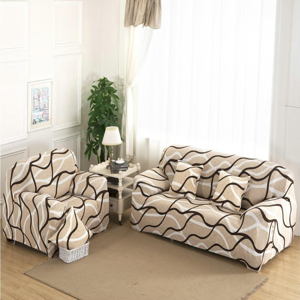 1/2/3/4 Seat Plush Flexible Stretch Sofa Cover Big