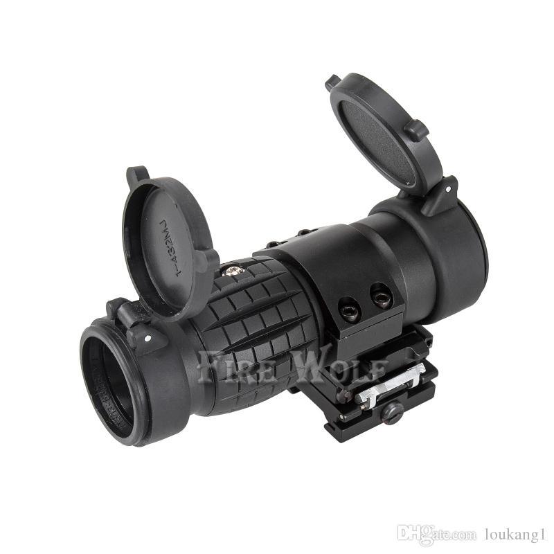 ПОЖАРНЫЙ ВОЛК Тактический оптический прицел 3X Лупа Сфера Компактный охотничий прицел с прицелом на 20-мм винтовку для винтовки