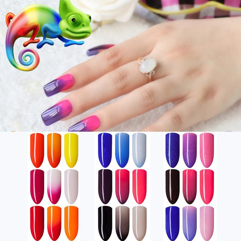 New Gel Polish Temperature Change Nail Color UV Gel Polish 10ml Nail for Nail soak off Gel polish