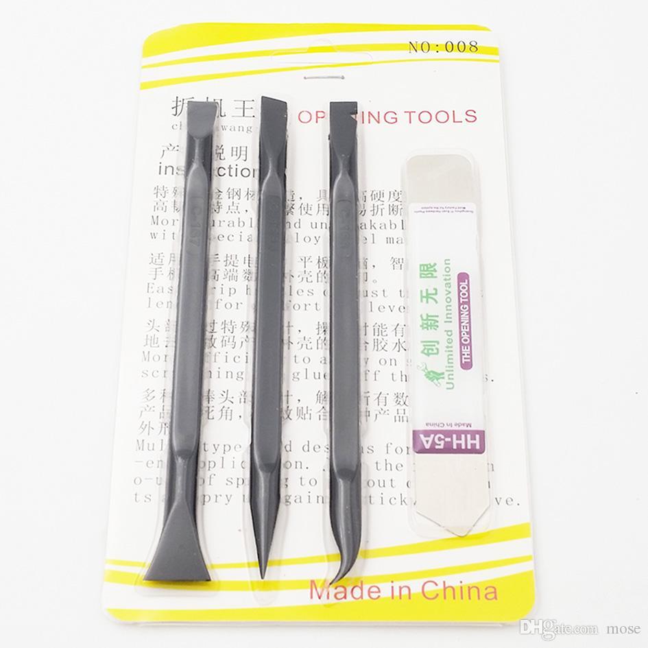 Negro C166 C167 C168 Profesional 4 en 1 Reparación PRY Apertura Herramientas Kit de herramientas para teléfonos portátiles, móviles y tabletas /