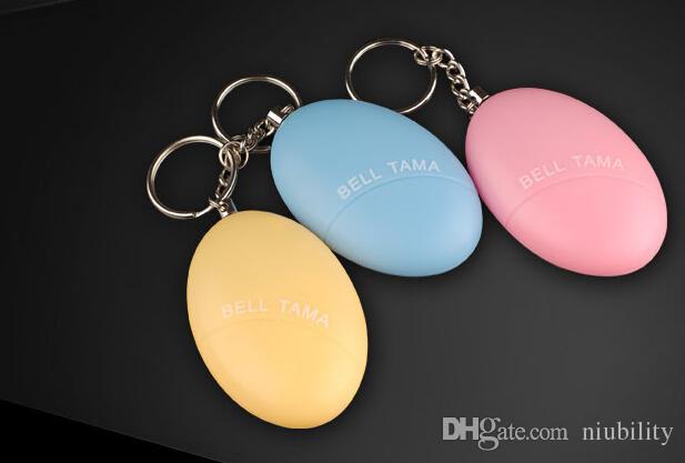 Alarmes Personnelles Bell Tama Fort Stable Stable 120 Décibels Mini Portable Keychain Alarme Sûr Football Panique Anti Rape Attack Sécurité Sécurité