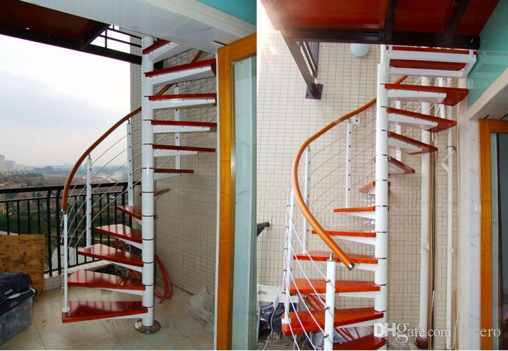 2018 Glass Spiral Stair Custom Made Wood Staircase Stair Step Away House  Building Supplies Home Remodelling From Cicero, $904.53 | Dhgate.Com