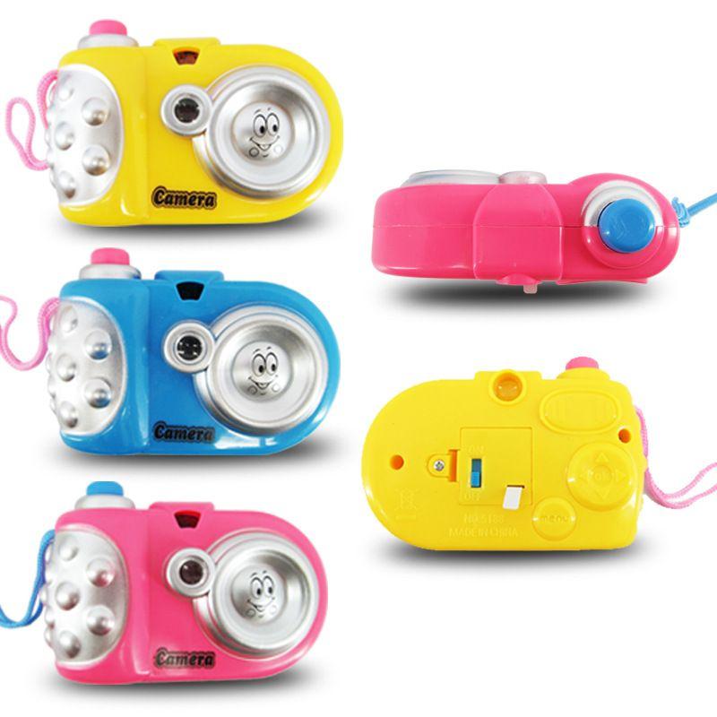 Muilti Animal Pattern LED Light Projection Educational Study Toy Random Color