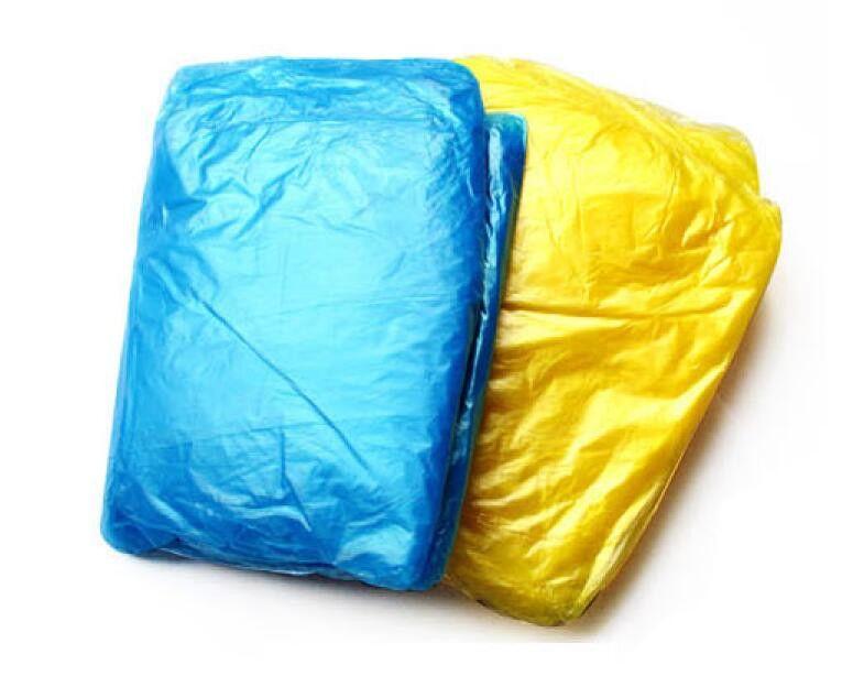 New PE Disposable One Time Raincoats Poncho Rainwear Fashional Travel Rain Coat Rain Wear gifts mixed colors DHL FEDEX SF FREE