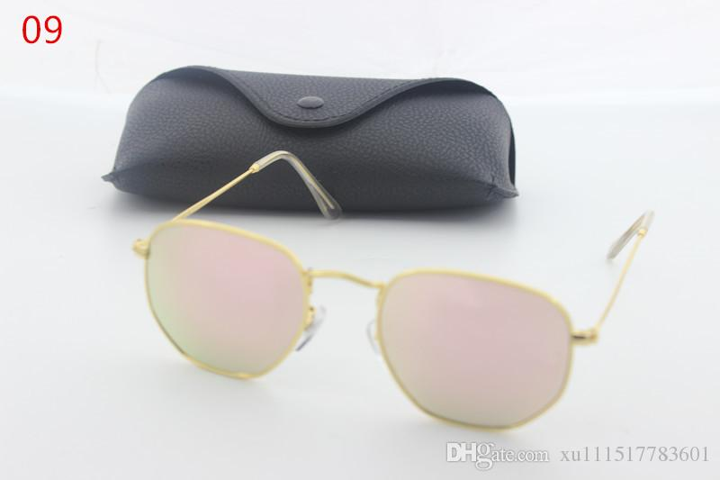 2019 new high-quality retro bright sunglasses high-definition aluminum and magnesium tide driving mirror coating the influx of people wearin