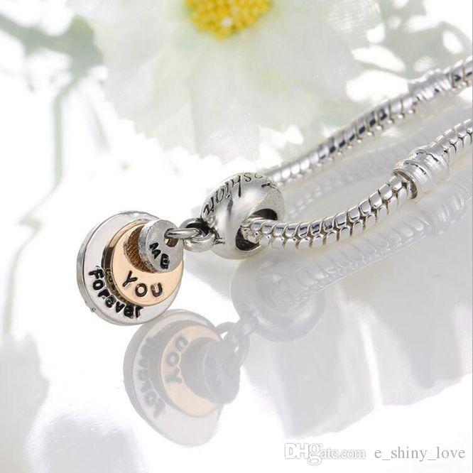 20 шт. / лот мода позолоченные три Layes письма круглый дизайн сплава металла мотаться DIY подвески fit Европейский BraceletNecklace низкая цена PED125