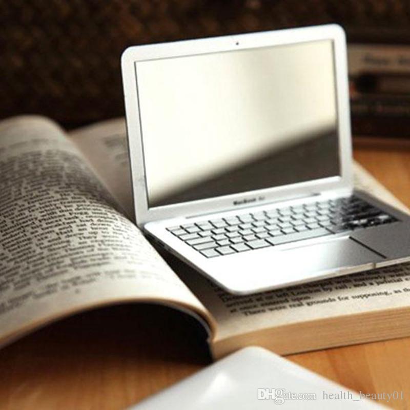 Haut Pflege Werkzeuge Nette Make-up Mini Tasche Laptop Stil Klar Glas Frauen Kosmetische Schönheit Spiegel Mode Notebook Form Make-up Spiegel Buch Schminkspiegel