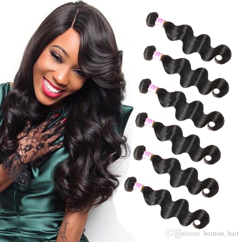 Machine Double Weft Hair Extensions Mix Inches Mink Brazilian Remy