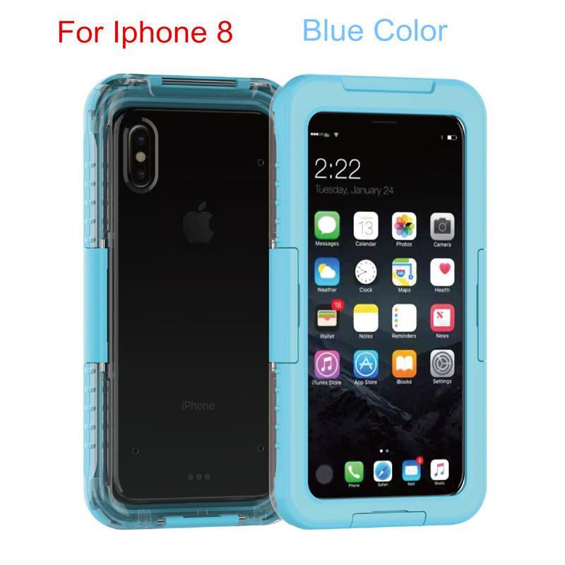 264ddd70 Funda 100% subacuática para Iphone 8 Fundas estancas para teléfono Funda  completa para Iphone 7 Plus I6s Iphone 5 Funda impermeable Samsung S7 Edge  ...