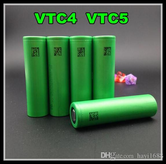 VTC5 2600 mAh bateria VTC4 2100 mAh Clone 18650 bateria PARA todos os tipos de e cigs Mecânica mod caixa mod cigarro eletrônico DHL