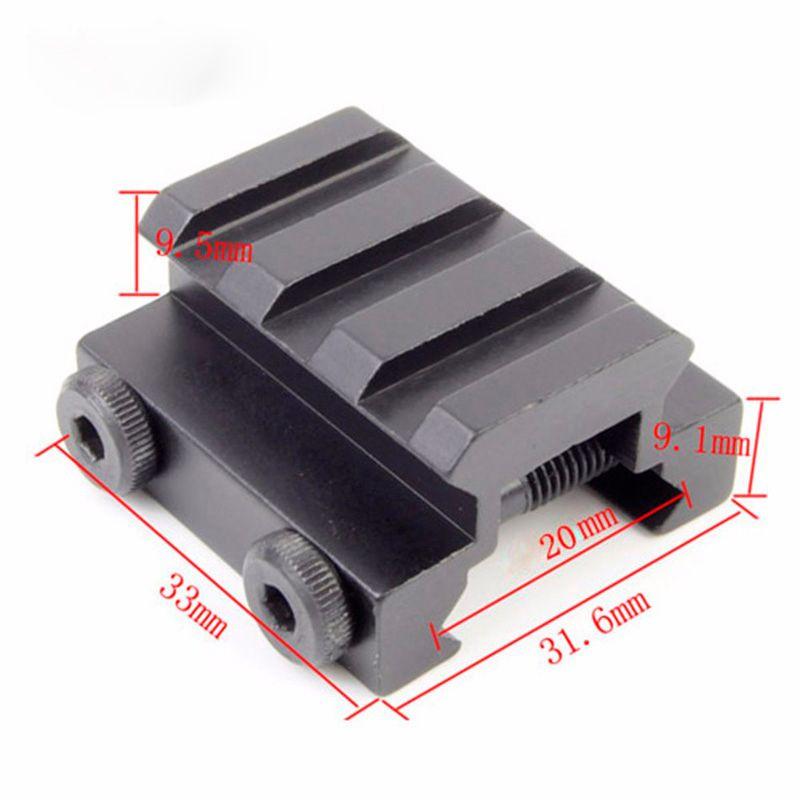 Tactical 3Slot 20mm Weaver Picatinny Rail Rifle Scope Sight Riser Mounts Hunting Gun Flashlight Mount Base Accessories