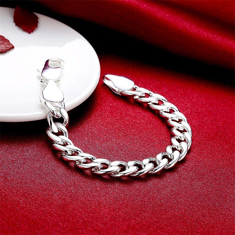 Yhameni Bracelet de marque 100% 925 Bracelet en argent sterling Bracelet pour hommes Classic Charm Bracelet S925 Bracelet Homme estampillé H151