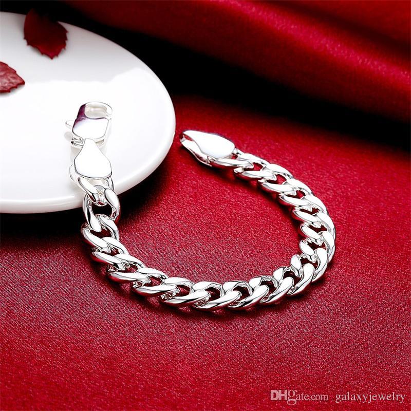 Yhamni Brand Belle Gioielli 100% 925 Sterling Silver Bracciale Braccialetto uomo Classico Braccialetto di fascino S925 Bracciale da uomo stampato H151