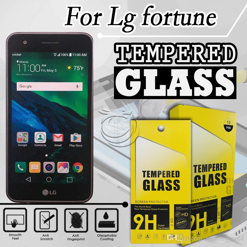 Tempered Glass Screen Protector For LG Fortune k20 plus m250 lv5 phoenix 3  Phone Accessories with packing