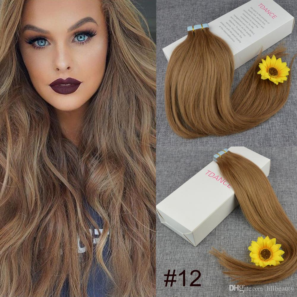 12 Indian Tape Hair Extensions Hot Heads Hair Extension 7a Skin Weft