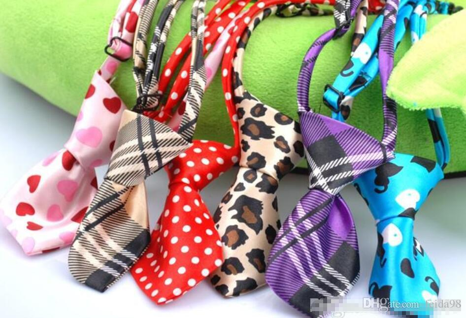 Hot Sale Free shipping dog pet cat bow tie necktie collar mixed different color 120pcs