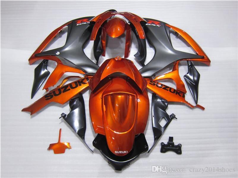 Regalos gratis Nuevos kits de carenado de motor caliente para SUZUKI GSXR 600 750 K6 06 07 GSXR-600 GSXR750 GSXR600 GSXR-750 2006 2007 gris vs naranja