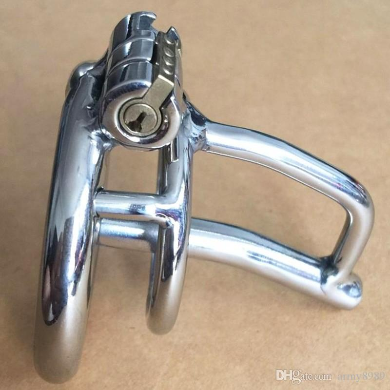 New Lock Small Male Chastity Devices With Urethral Sound Catheter Adult Sex Toys For Men 5CM length Cock Cage