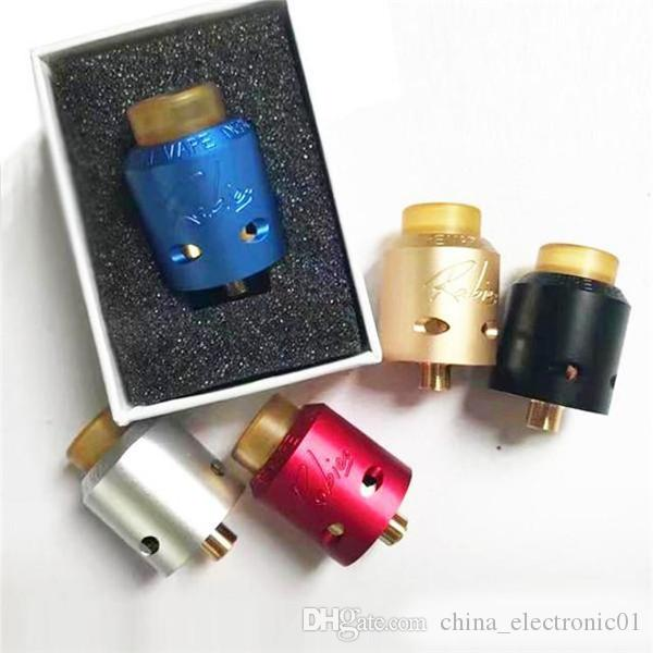 Vaporizzatore Desiderio Rabies Mad Dog 2 atomizzatore RDA con diametro di 24mm PEI drip tips e anello inferiore E sigaretta DHL Free