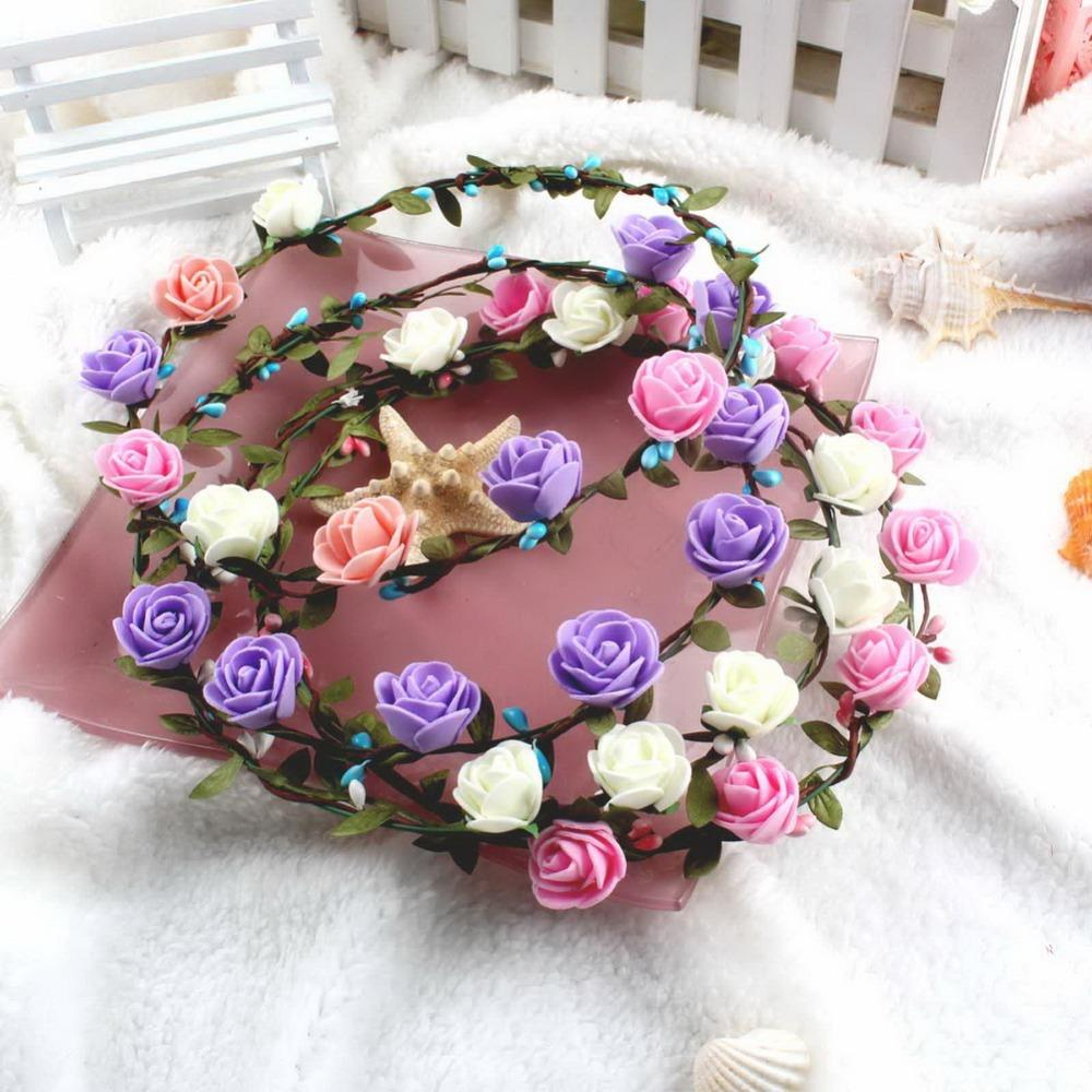 Flower Wreaths For Weddings: Wholesale Wedding Decoration Flower Hair Accessories For