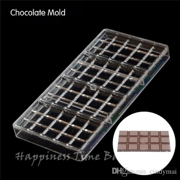 Square shaped DIY Chocolate Clear Polycarbonate Plastic Mold,Party Handmade Chocolate PC Mold,Chocolate Baking Tool