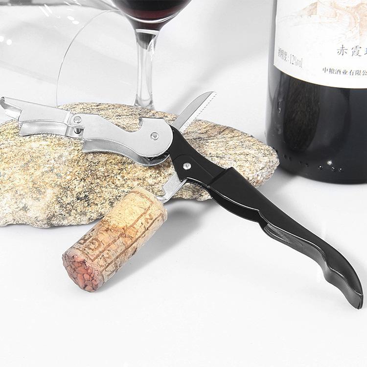 Kellner Wein Werkzeuge Flaschenöffner Meer Pferd Korkenzieher Küchenmesser Korkenzieher Kann Rotwein Bier Opener Wedding Favor Black Farbe