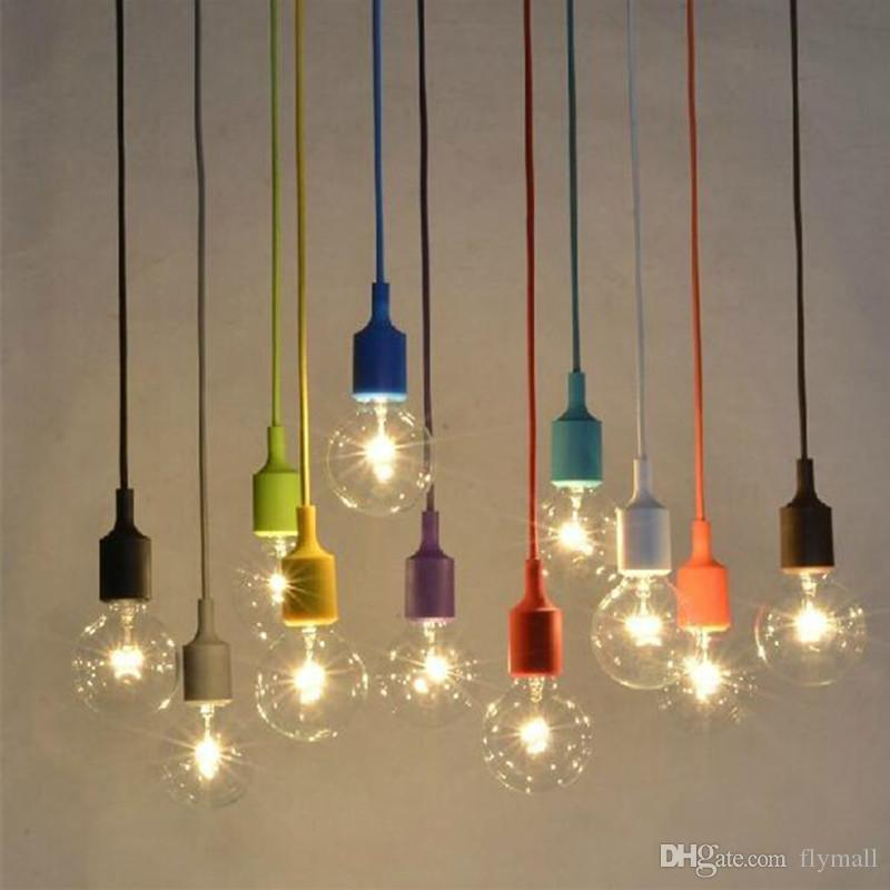 Gummi Enthalten Licht E27 Diy Fassung Decke Silikon Lampen Pendelleuchte Bar Muuto Restaurant T3l1KJFc