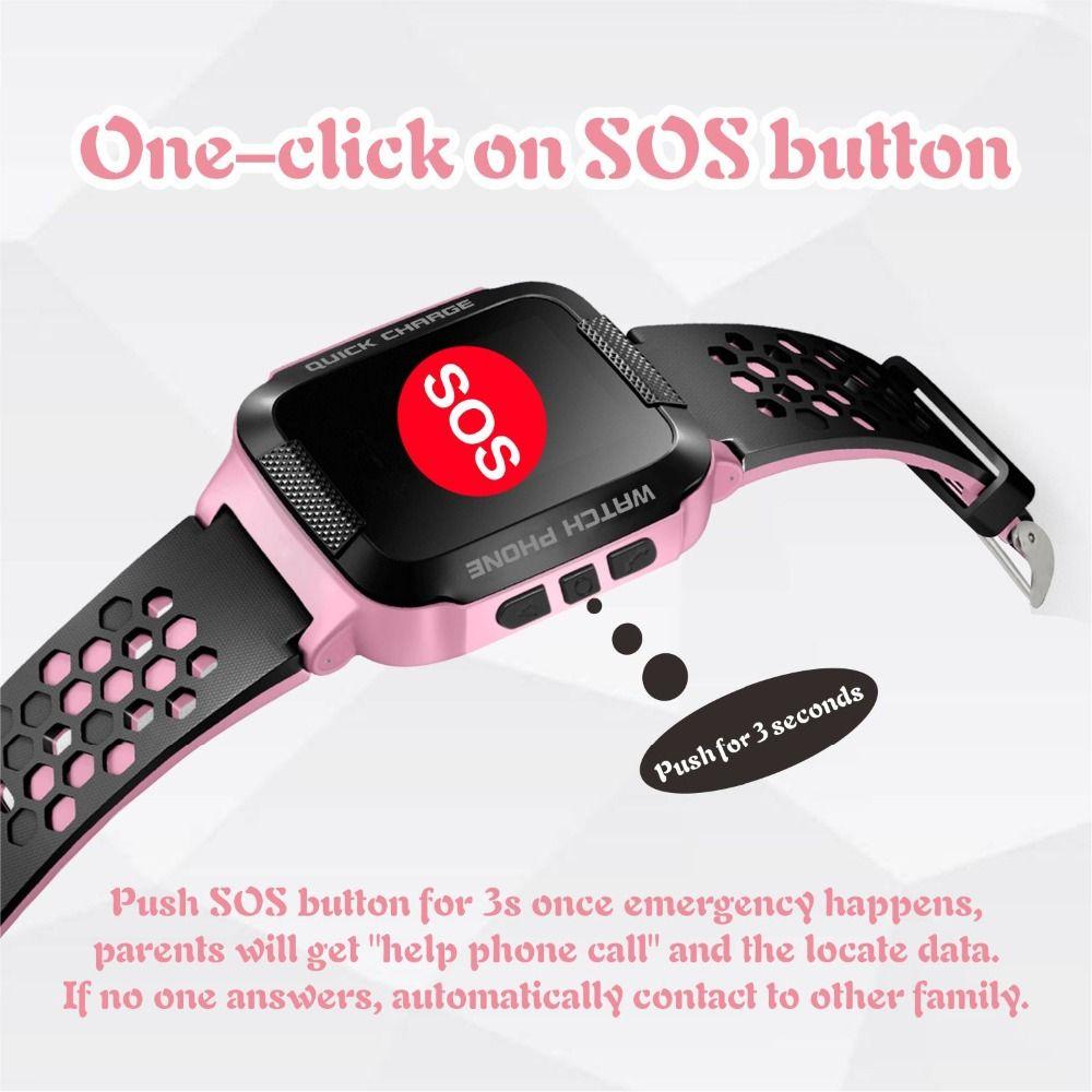 GPS Baby Tracker Smart Watch supporto GSM sim card C1 1.44 '' Schermo quadrato Bambini Smartwatch SOS Chiamata Anti-perso Android IOS P