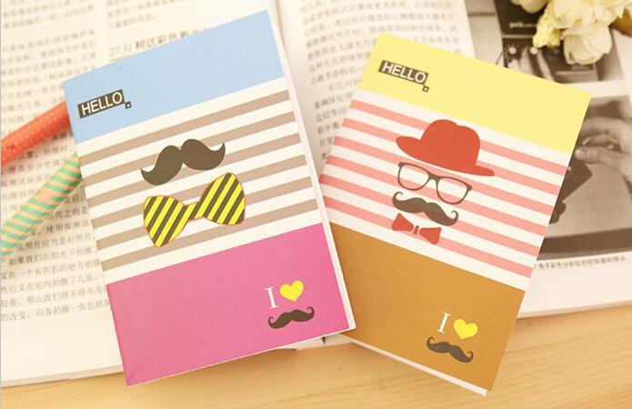 novelty korean stationery cute cartoons student notebooks paper diary book notepad memo pads random color