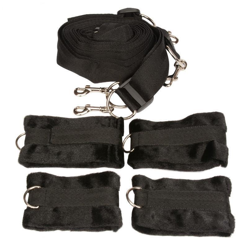 Под кровать матрац удерживающая система с наручниками манжеты БДСМ Бондаж Gear Секс игрушки для взрослых Продукты для пар Сексуальные игры XLF1145