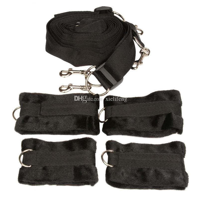 Under the Bed Mattress Restraint System with handcuffs wrist cuffs BDSM Bondage Gear Adult Sex Toys Products for Couples Sexual Play XLF1145