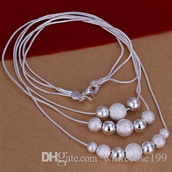Commercio all'ingrosso - Collana di trasporto libero bN020 dei monili d'argento di modo del regalo di Natale di prezzi più bassi al minuto 925