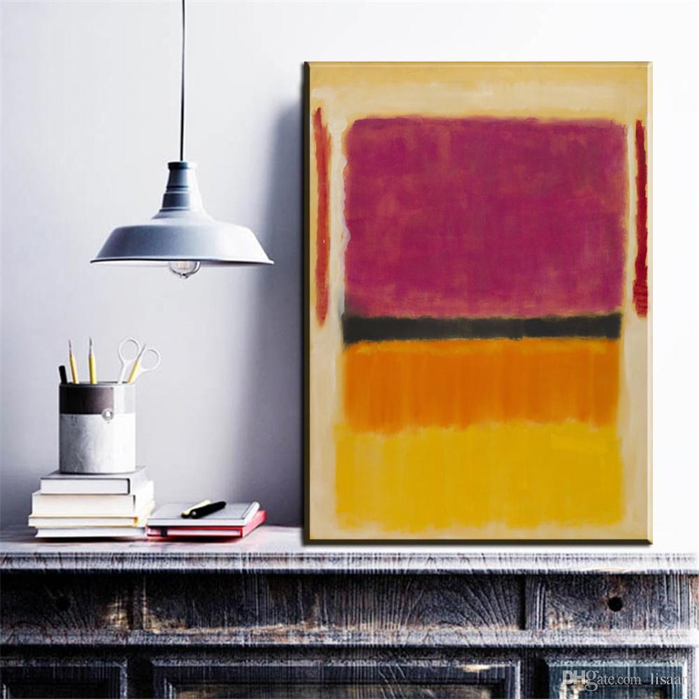 Acheter ZZ180 Toile Moderne Marque Du0027art Rothko Couleur Peinture À Lu0027huile  Abstraite Sur Toile Pour Salon Décoration Chambre Imprime Gravures De $8.95  Du ...