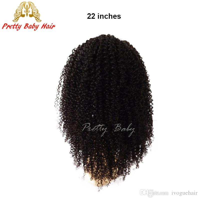 6A Pretty Baby Hair Unprocessed Full Lace Human Hair Wigs Kinky Curly Virgin Brazilian Human Hair Wig Glueless Lace Front Wigs
