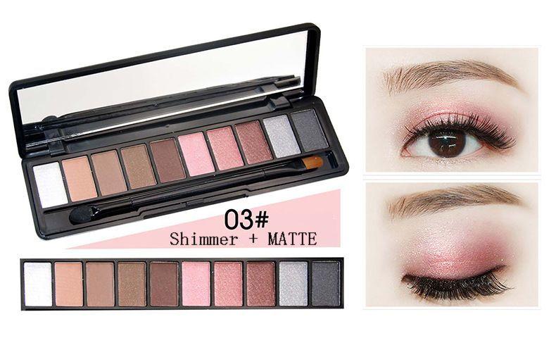 NOVO 5077 модель 10 различных цветов теней для век MATTE + SHIMMER модные тени для век с кисточкой и розничной упаковкой.