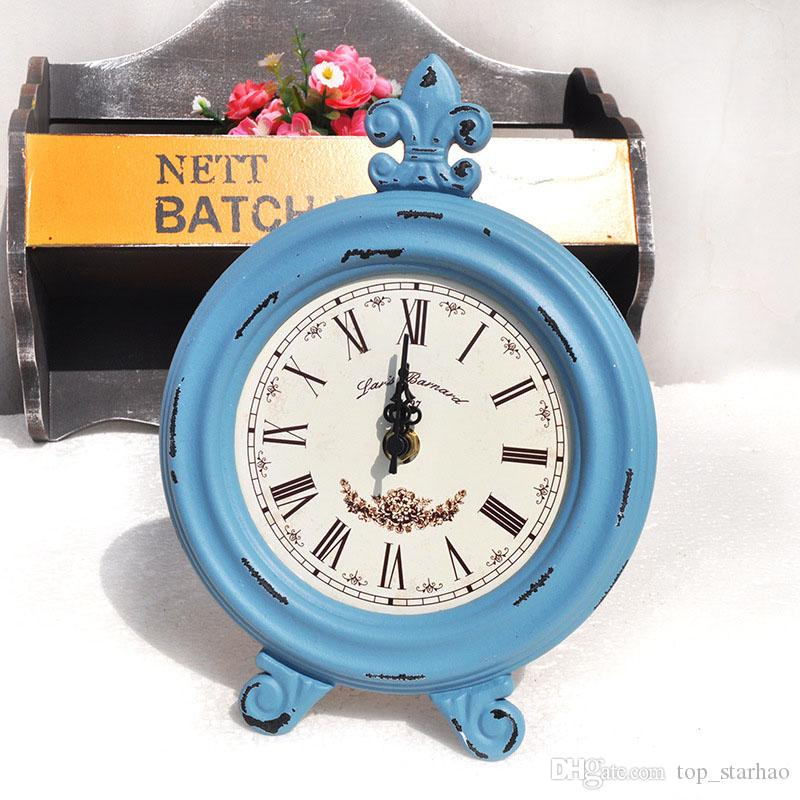 Vintage Wooden Round Oval Clock Fashion Home Living Room Bedroom Decor Table Clock XL-274