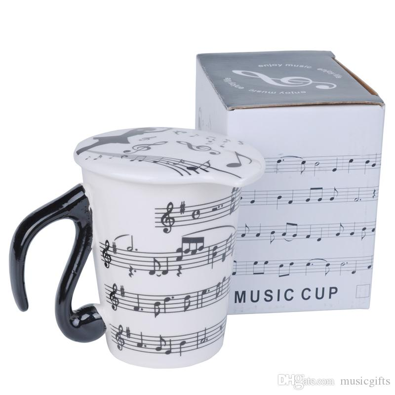 Творческий Керамический музыкант кружка кофе Чашка чая с крышкой ноты как День Святого Валентина подарок учителя подарки