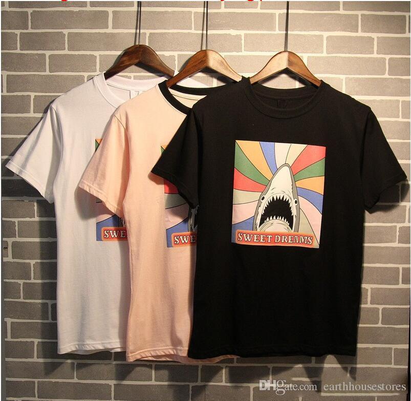2017 Spring Summer New Arrival Brand Designer T Shirt Shark Sweet ...