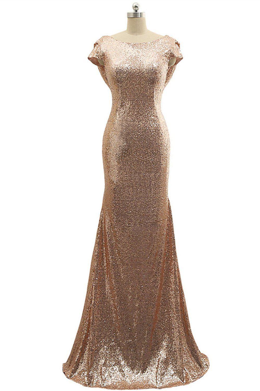 Rose Gold Silver Burgundy Sequins Bridesmaid Dresses Short