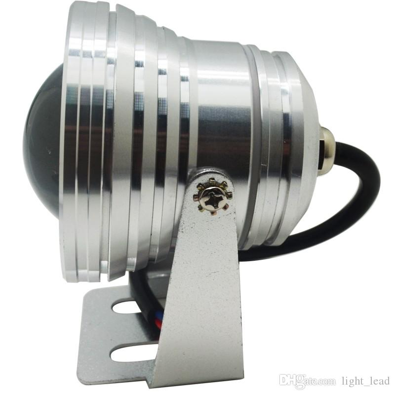IP67 방수 주도 수중 라이트 10W RGB 램프 DC 12V 수족관 수영장 스포트 라이트 알루미늄 자동차 조명 물고기 탱크 원격
