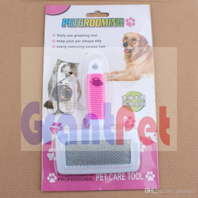 Pet Grooming for Dog and Cat Grooing pet cats dogs pet brush rub fur comfortable keep you house clean and tidy 1 kit 2 part size M 16cm