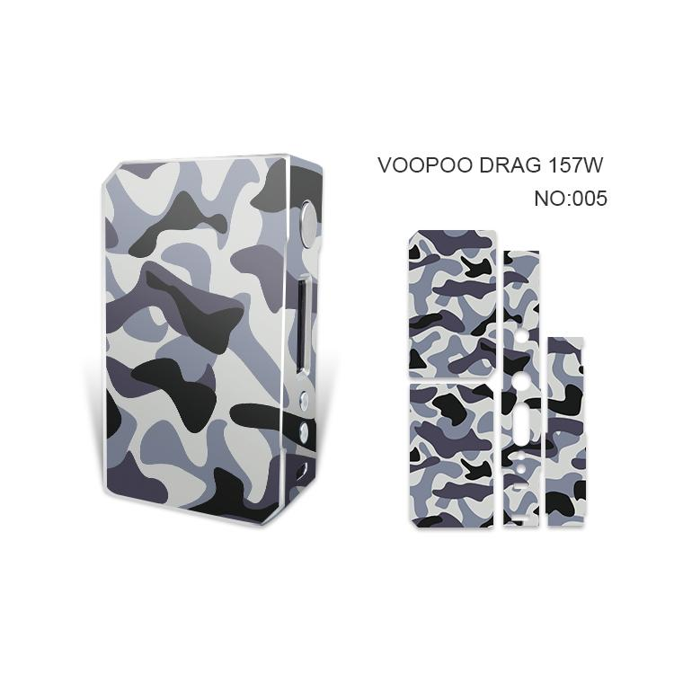 VOOPOO DRAG 157W Custodie adesive la pelle Custodie DRAG 157 W TC Mod mod Pellicole adesive protettive Vape con Fashion 14Pattern DHL