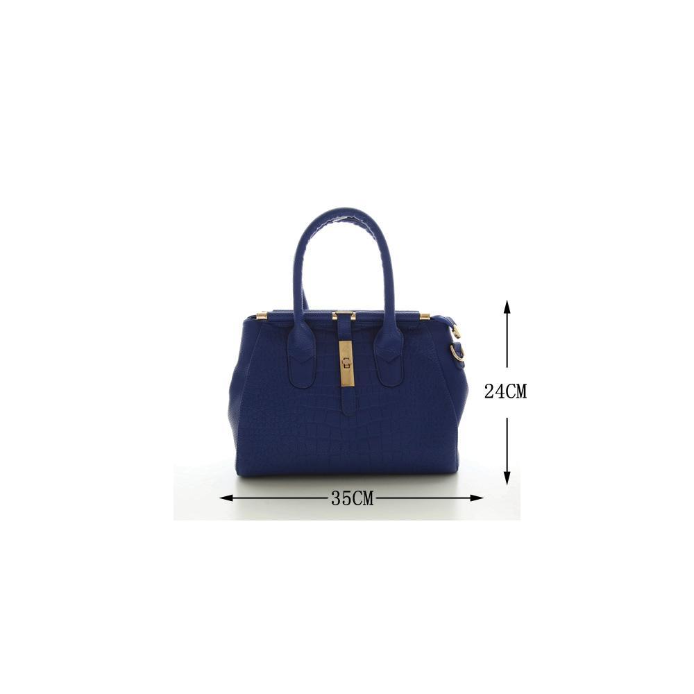 Wholesale Alligator Women Bag Metal Lock Top Handle Bags Messenger Bags  High Quality PU Leather Handbags Shoulder Bags Tote Herald Fashion Handbags  ... c6880dee18f1e