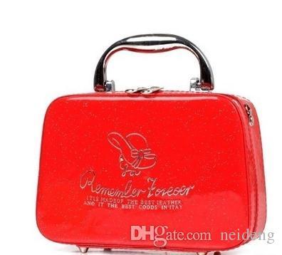 2017 جديد الأزياء البسيطة مخلب التجميل الصليب بو متعدد الوظائف حقيبة ماكياج حقيبة أدوات الزينة حقيبة القضية