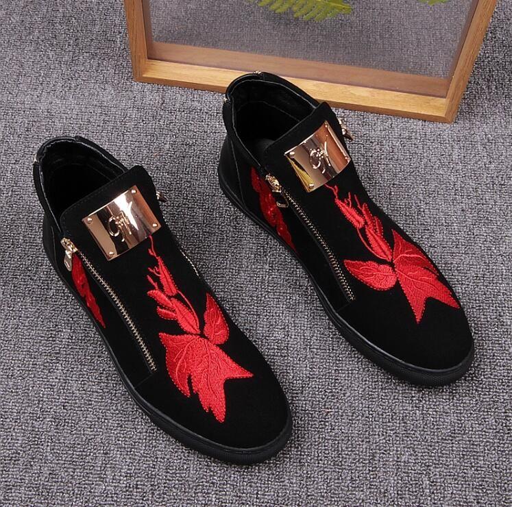 Heiße verkäufe Seitlicher Reißverschluss Plattform Luxus Müßiggänger Männer Schuhe Aus Echtem Leder Mode Wohnungen Herren Schuhe Casual Designer Z320