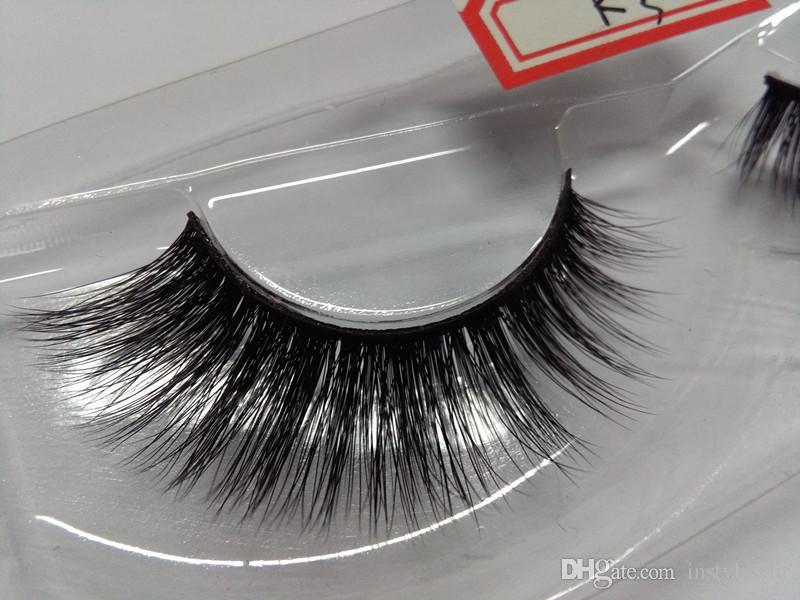Wholesale Natural 3D 100% Handmade False Eye Lashes Popular Sale Fake Eyelashes Extensions For Makeup Beauty